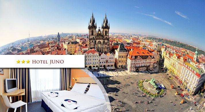 3 alebo 4 dňový pobyt pre 2 osoby v Hoteli Juno neďaleko centra Prahy.