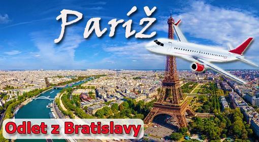 5-dňový letecký zájazd do Paríža s odletom z Bratislavy.