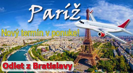 5-dňový letecký zájazd do Paríža s odletom z Bratislavy. Nový termín v ponuke!