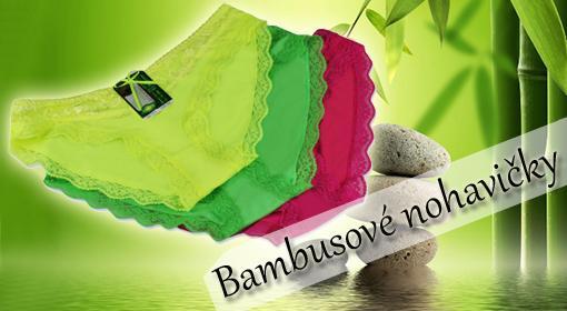 Čipkované bambusové nohavičky 3 ks v balení s PrimaZľavou 41% vrátane doručenia!