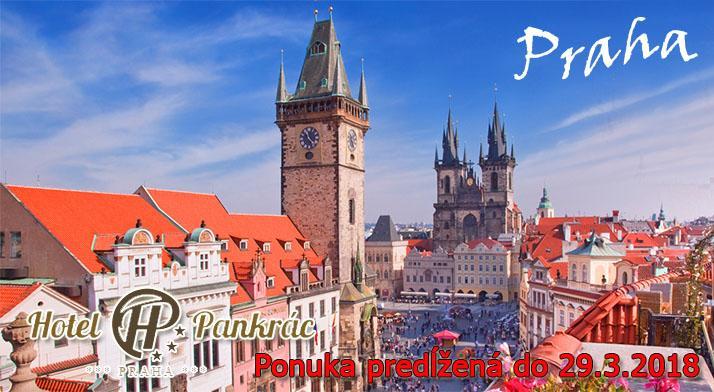 2, 3 alebo 4 dňový pobyt pre dve osoby v Hoteli Pankrác*** s raňajkami a fľašou vína v krásnej Prahe!