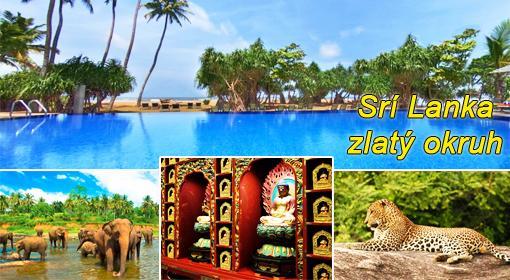 Zlatý okruh Srí Lankou na 11 dní letecky s ubytovaním, polpenziou a oddychom v plážovom hoteli Royal Beach, odlet  teraz so skvelou zľavou 36%! Odlet z BA.