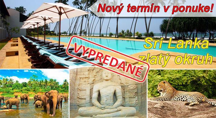 Zlatý okruh Srí Lankou na 1...