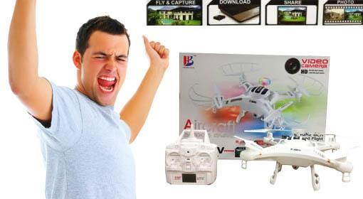 Dron s HD kamerami a čítačkou kariet teraz so skvelou zľavou 50% vrátane doručenia!