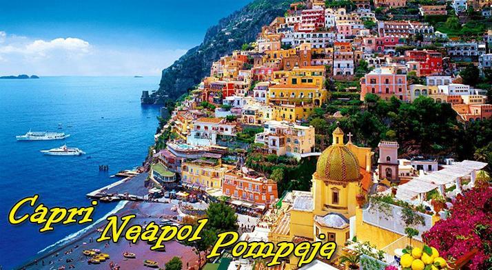 Jedinečný 5 - dňový zájazd po južnom Taliansku. Ostrov Capri, Neapol, Pompeje a Vezuv. Ubytovanie v hoteli s raňajkami, služby skúseného sprievodcu a zákonné poistenie zájazdu.