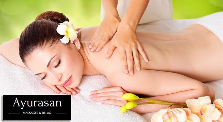 Exotický 100-minútový masážny balíček Tanec slnka v salóne Ayurasan massages a relax.