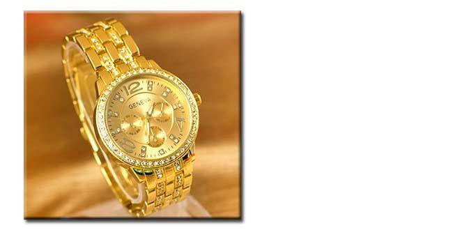 206c0122461 PrimaZlavy - Luxusné dámske hodinky značky Geneva s kryštálmi ...